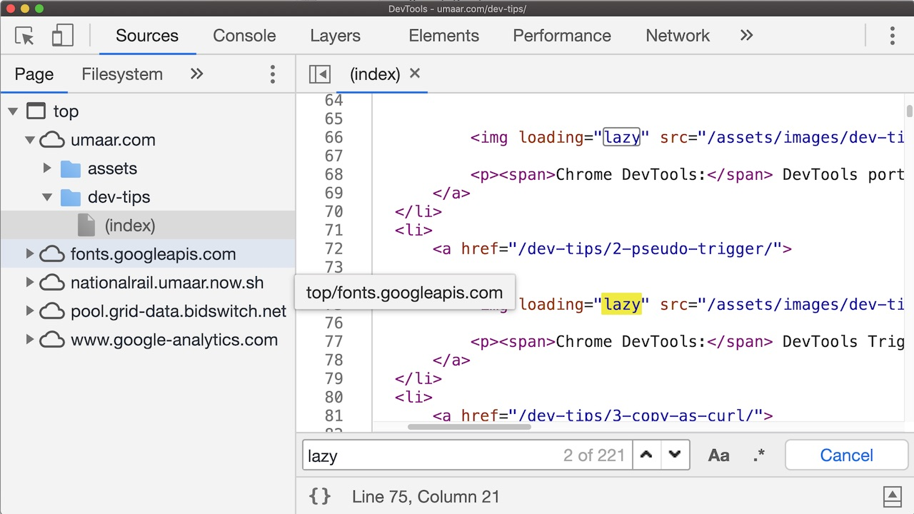 Making images lazy-load with DevTools