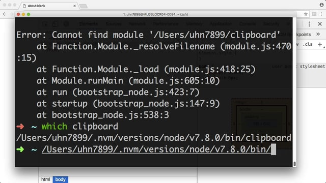 Node CLI debugging